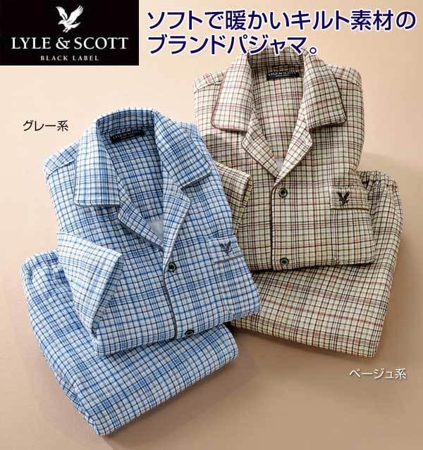 ライル&スコット 裏綿キルトチェックパジャマ パジャマ ナイトウェア メンズ 秋冬 955212