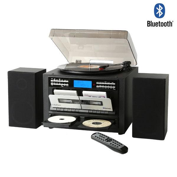 CD録音機能付き Wカセット レコードプレーヤー マルチプレーヤー カセットテープレコーダー Bluetooth CDコピー TS-6159