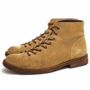 速くおよび自由な MOTO モト レースアップブーツ 16331 Monkey boots Velours Leather ベジタブルタンニン鞣し モンキーブーツ レザーソール, お茶のぶどう園 b7132b1f