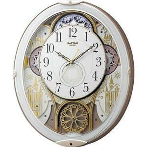 人気の リズム時計 Rhythm 掛け時計 電波からくり アナログ スモールワールドノエルN 白 4MN539RH03, タントウチョウ defd2f15