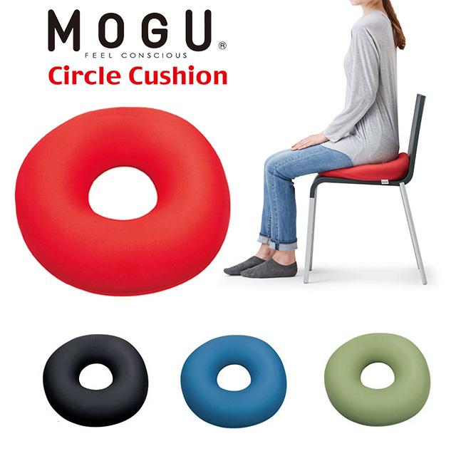 MOGU モグ ビーズクッション サークルクッション ドーナツクッション 直径39cm〔10I8312〕