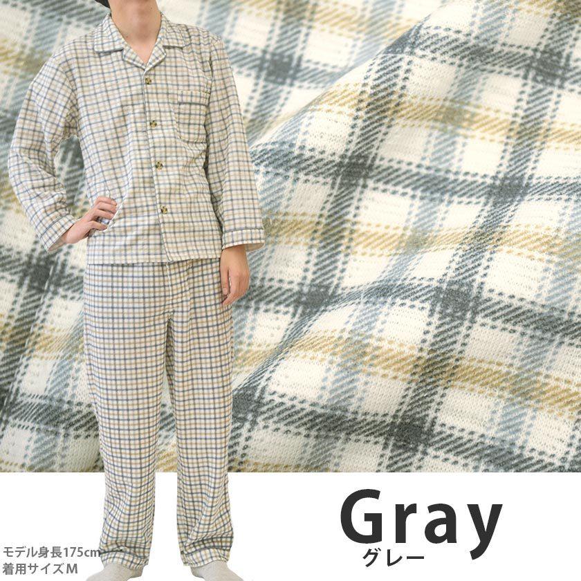 大チェック/グレー