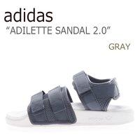 size 40 be224 8b7b7 送料無料 アディダス サンダル adidas メンズ レディース ADILETTE SANDAL 2.0 アディレッタ サンダル GRAY.