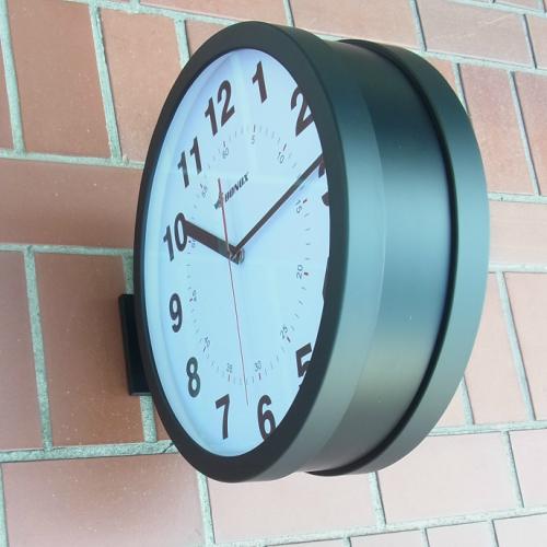 ダルトン社の壁付け用両面時計 【送料無料】 (ボノックスダブルフェイス ウォールクロック 黒) 両面時計