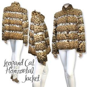 超人気 レオパードキャット ホリゾンタルホワイトベリージャケット, カウリ ドロップ 0cfb4781