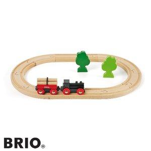BRIO(ブリオ)【33042】小さな森の基本レールセット/木のおもちゃ