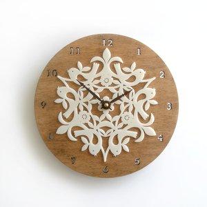 【中古】 【Decoylab Clocks】デコイラボ Bamboo バンブー掛け時計 Animal Bamboo Clocks Birdies(バーディーズ) Animal 環境にやさしい竹素材のかわいい壁掛け時計, TASKS:2b6815d1 --- incredible-filmfest.de