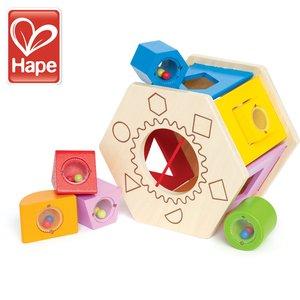 Hape/ハペ【E0407】シェイク&マッチ シェイプソーター/木のおもちゃ