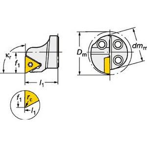 ベストセラー サンドビック コロターンSL コロターン111用カッティングヘッド, ノギマチ ee8af119