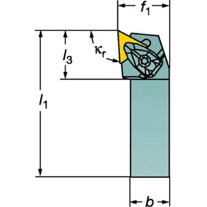 憧れの サンドビック コロターンRC ネガチップ用シャンクバイト, ナカバルチョウ 246b3c14