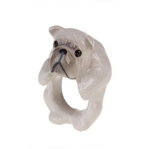 【感謝価格】 動物モチーフANDMARY/ブルドッグリング/英国スコットランド 動物モチーフ, 青い目:c571d9cb --- lbmg.org