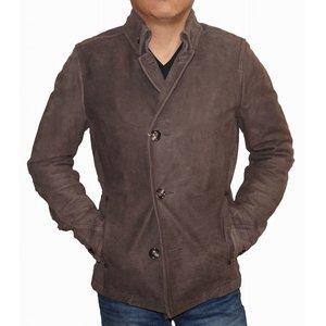 絶対一番安い ニコルクラブフォーメン NICOLE CLUB FOR MEN 本革 レザー コート 中綿入り メンズ 冬物 男性用 牛革 ジャケット ブラウン THERMOS, プチママ 10d0233c