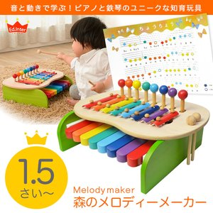 森のメロディメーカー 【知育玩具】【教育玩具】【楽器玩具】【鉄琴】【木製玩具】【森のあそび道具シリーズ】【お誕生日祝い】