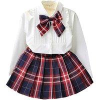 2a0af148d0e6f 女の子 フォーマル スカート 白 ブラウス シャツ 子供服 入園式 入学式 卒園式 発表会.