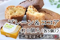大豆ケーキ10個入(各5個):プレーン&ココア