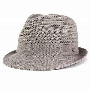 品質満点 ボルサリーノ 中折れハット 帽子 ハット メンズ 春夏 borsalino サーモニット マニッシュ 中折れ帽子 夏用 グレー, 松尾村 2d6075eb