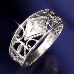 人気絶頂 【送料無料】アンティークダイヤリング 指輪 15号 ファッション リング・指輪 天然石 ダイヤモンド レビュー投稿で次回使える2000円クーポン全員にプレゼント, がいや酒店 e7650680