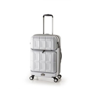 超熱 10000円以上送料無料 スーツケース 【マットブラッシュホワイト】 拡張式(54L+8L) ダブルフロントオープン アジア・ラゲージ 『PANTHEON』 ファッション バッグ スーツケース・トラベルケース レビュー投稿で次回使える2000円クーポン全員にプレゼント, 小平町 32f84373