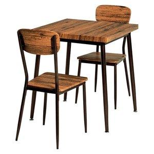 最高品質の 10000円以上送料無料 ブラウン】 ダイニングテーブル&チェア 3点セット【テーブル幅70cm ブラウン】 3点セット テーブル テーブルアジャスター付 スチールパイプ 〔リビング 台所〕【】 生活用品・インテリア・雑貨 インテリア・家具 テーブル ダイニングテーブル ダイニングセット 3点セット レ 品質、保証もしっかりさせていただきます, 魅力的な:f45b8322 --- mikrotik.smkn1talaga.sch.id