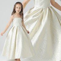 子供ドレス 折柄がエレガントな 刺繍ドレス お子様 ドレス 110・120・130・140・150・.