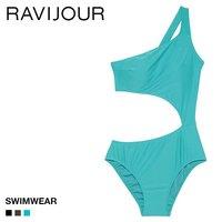 37e3c47544b (ラヴィジュール)Ravijour ワンショルダー ワンピース SWIMWEAR 水着 モノキニ スイムウェア レディース