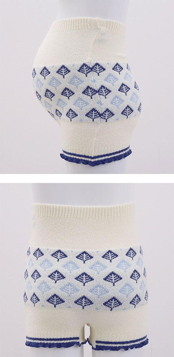 (ワコール)Wacoal (マタニティ)MATERNITY ツリー柄 毛パン インナー 1分丈 産前・産後兼用 あったかボトム