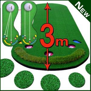 宅配 パターマット3m【特大】サイズ ゴルフ練習用具 ゴルフ練習マット ゴルフボール5個付き滑らかな傾斜で本格グリーンを再現, COLD RIVER :090052a9 --- abizad.eu.org