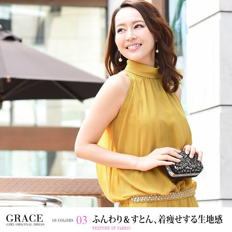 グレースドレス・ふんわり&すとん、着痩せする生地感・モデル:青田夏奈