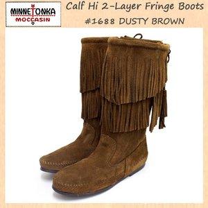 新しく着き sale セール 正規取扱店 MINNETONKA(ミネトンカ)Calf Hi 2-Layer Fringe(カーフハイ2レイヤーフリンジ)#1688 DUSTY BROWN SUEDE レディース MT177, シンゴウムラ f6e15da0