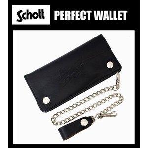 人気大割引 正規取扱店 SCHOTT(ショット) PERFECTO WALLET(パーフェクトウォレット) BLACK ブラック, パターンとワッペンの店-ウィカ f6f69e3a