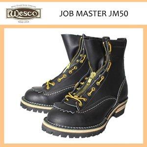 格安 正規取扱店 Wescoウエスコ Jobmasterジョブマスター Black ブラック Leather,Lace to Toe,8height,#100sole,Lace in Zipper JM50, インテリア夢工房 ab9b17db