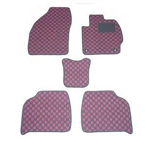 送料無料 フリード 型式:GB5/6 年式:H28~ (6人乗り ハイブリット車) フロアマット一式 チェック [カラー:ブラック×ピンク] 天野 AMANO
