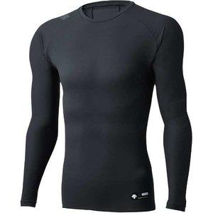 Cネック長袖アンダーシャツ [サイズ:XO] [カラー:ブラック] #DBMLJB00-BLK デサント DESCENTE 9500円以上購入で送料無料(一部地域を除く)