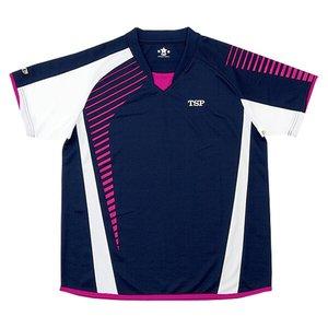 卓球用 シャツ ステアシャツ [カラー:ネイビー×マゼンタ] [サイズ:XO] #030465 ティーエスピー 9500円以上購入で送料無料