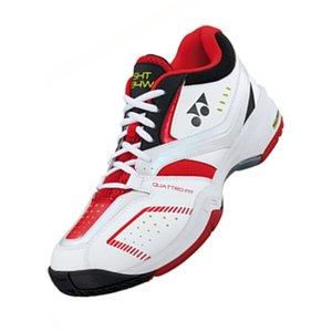 ヨネックス YONEX テニスシューズ パワークッション ワイド 134 [カラー:ブラック×レッド] [サイズ:29.0cm] #SHT-134W 9500円以上購入で送料無料