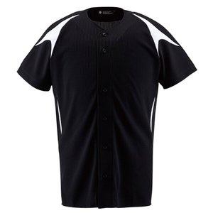 野球用 ユニフォームシャツ カラーコンビネーションシャツ(フルオープン) DB-1013 [カラー:ブラック×Sホワイト] [サイズ:M] #DB-1013 デサント 9500円以上購入で送料無料