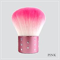 あかしや akashiya化粧筆 カブキブラシラインストーン ピンク K19-PK 37g【逸品館】