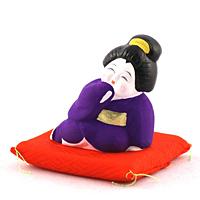 お福さん (紫)【返品・交換・キャンセル不可】【逸品館】