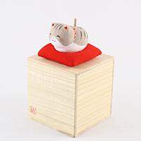 ゆらゆらソーラーミニ猫 グレー【返品・交換・キャンセル不可】【逸品館】