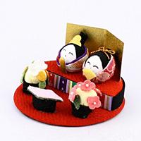 コロコロ雛 丸段飾り(ころころびな まるだんかざり)【返品・交換・キャンセル不可】【逸品館】