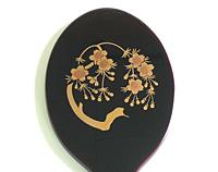 木製手鏡 (桜蒔絵)【返品・交換・キャンセル不可】【逸品館】