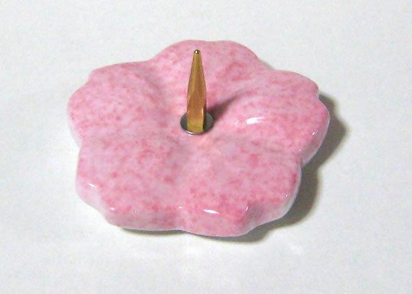 清水焼 燭台 小 桜(ピンク) ろうそく立て【逸品館】