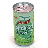 ★まとめ買い★ サンガリア ふわっとメロンクリームソーダ 190g缶 ×30個【イージャパンモール】