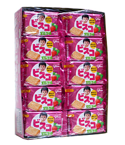 ★まとめ買い★ グリコ ビスコミニパック イチゴ 5枚 ×20個【イージャパンモール】