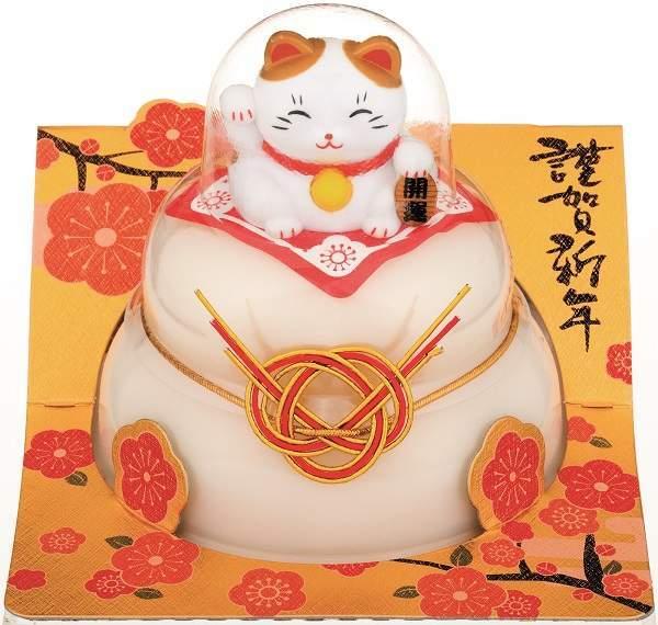 【鏡餅】タイマツ [G−163]お鏡餅福招き招き猫160g ×24個【イージャパンモール】