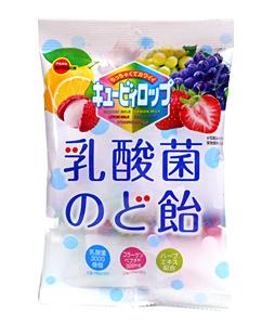 ブルボン キュービィロップ乳酸菌のど飴 100g【イージャパンモール】