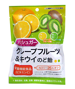 扇雀飴 ノンシュガーGR&キウイのど飴 43g【イージャパンモール】