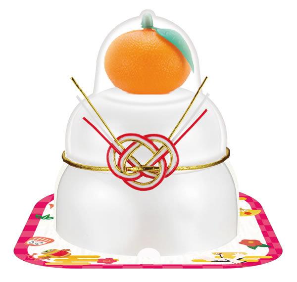 【鏡餅】サトウ 福餅入り鏡餅 小飾り橙 66g【イージャパンモール】