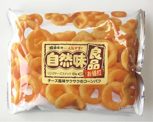 ★まとめ買い★ リスカ 自然味良品 リングチーズスナック 80g ×12個【イージャパンモール】