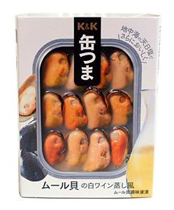 K&K缶つまムール貝の白ワイン蒸し風95g/角3号B缶【イージャパンモール】